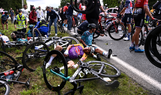 Spectator Who Caused Tour De France Pileup Flees List Of Injuries