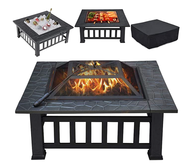 Yaheetech Multifunctional Fire Pit Table