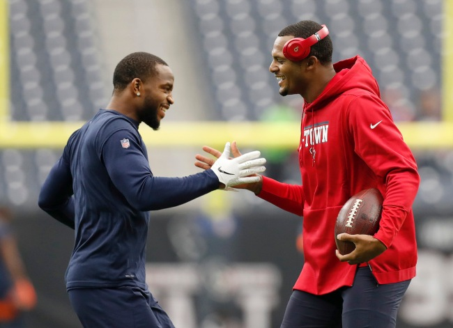Kareem Jackson, a former teammate of Deshaun Watson's, says the QB is allegedly interested in a trade to the Denver Broncos
