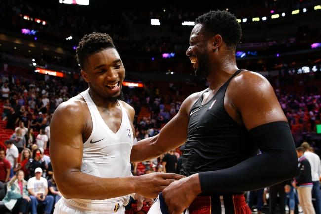 ESPN's Brian Windhorst claims Utah Jazz star Donovan Mitchell may be unhappy with the organization, and that part owner Dwyane Wade is concerned