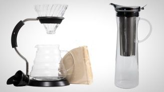 Take Your Coffee Game To The Next Level With This Glass Pour Over Set And Cold Brew Pitcher