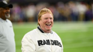 Raiders' Owner Mark Davis Wrecks His Mini-Cooper In A Parking Lot While Wearing Incredible Outfit