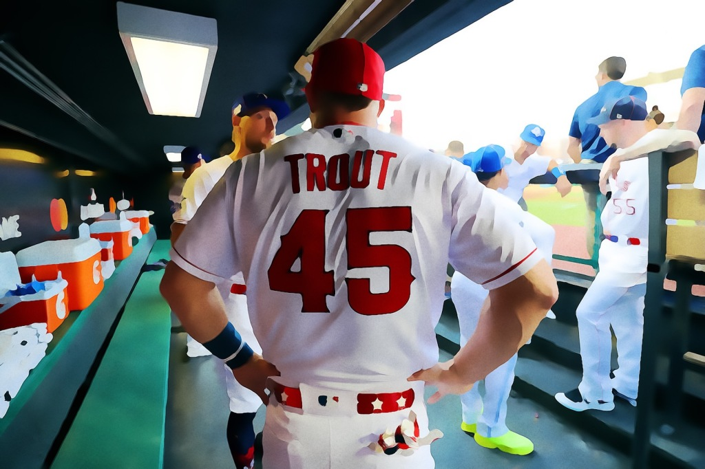 Mike Trout Hunter Pence Whistle Interview Baseball GOAT