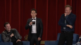 For The Final Time, Paul Rudd Hit Conan O'Brien With The 'Mac and Me' Prank