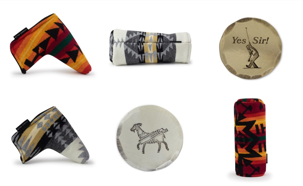 Pendleton Wool club head covers drive and putter covers