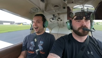 Guy Pranks His Buddy By Not Telling Him He Has His Pilot License Before Flying A Plane