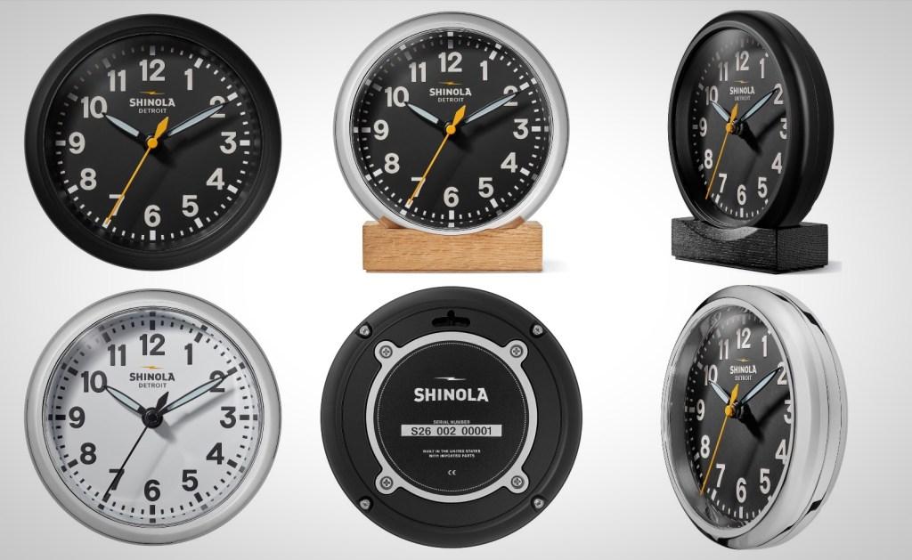 Runwell Desk Clock by Shinola Watches Detroit American Made
