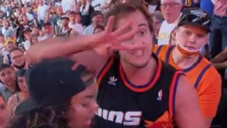 'Suns In 4' Guy Is Getting Treated Like A Celebrity By Suns Fans At Game 1 Of The Western Conference Finals