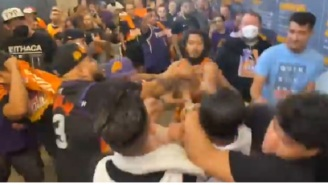 Suns Fans Get Into Brawl With Clippers Fans While People Yell 'Suns In 4' In The Background After Game 1 Of WCF