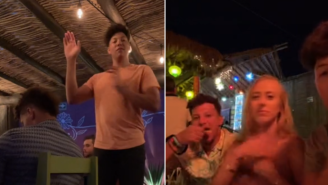 Patrick Mahomes Hilariously Ignores His Fiancée Twerking While His Brother Does TikTok Dances At Restaurant