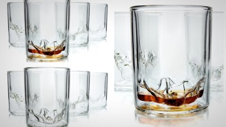 These Unique Whiskey Glasses Feature Topographic Models Of Utah's Zion National Park