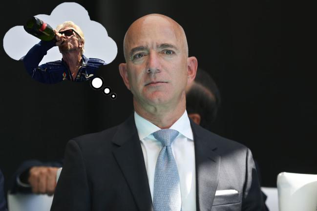 Jeff Bezos Richard Branson