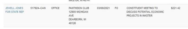 Jewell Jones Michigan Pantheion Club