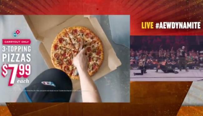 Domino's AEW pizza cutter ad controversy