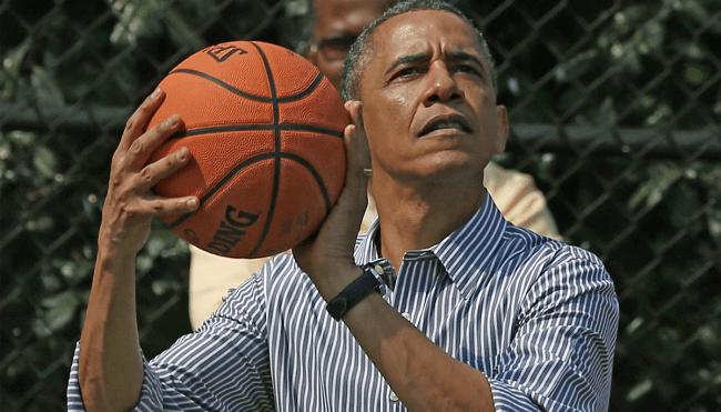 Barack Obama basketball nba players veterans
