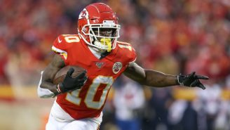 Tyreek Hill Went Undercover As A Grandpa And Raced A Woman Who Fell Right On Her Face