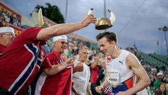 This Norwegian Hurdler Breaking The Longest-Standing Record In Men's Track In Front Of A Home Crowd Is An Adrenaline Rush