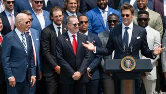 Tom Brady Makes Election Conspiracy Joke During Bucs' Visit To White House