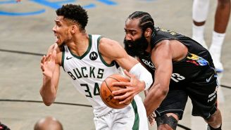 NBA Fans Mock James Harden For Once Saying Giannis Antetokounmpo Has 'No Skill'