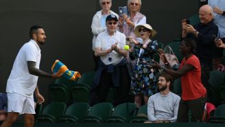 Nick Kyrgios Continues To Be The Greatest Showman In Tennis And Asked A Fan Where He Should Serve Match Point At Wimbledon