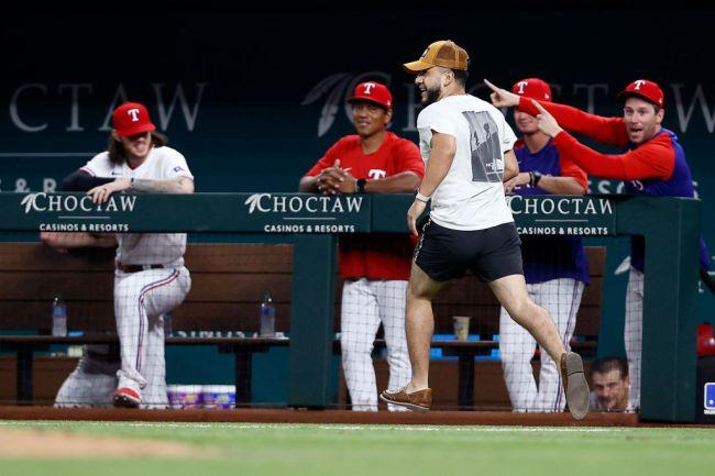 Detroit Tigers v Texas Rangers Fan Field streaker