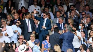 Tom Cruise And David Beckham Shared A $1 Billion Fist Bump During The Best Sunday Ever At Wimbledon And Euro 2020