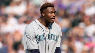 D.K. Metcalf Might Be The Worst Softball Player Ever, Struck Out Badly Against Quavo In Celebrity All-Star Game