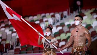 Shirtless Tongan Flag Bearer Has Competition For Most Oily Olympian In Tokyo