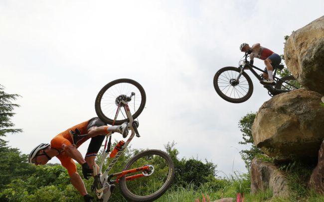 Cycling - Mountain Bike - Olympics: Day 3 Mathieu van der Poel crash