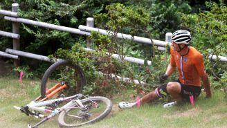 Olympic Gold Medal Favorite Mountain Biker Suffers HUGE Crash After Dropping Out Of Tour De France To Prepare