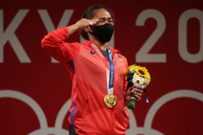 Hidilyn Diaz of Team Philippines Olympics Tokyo Gold Medal Weightlifting
