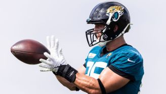 Tim Tebow Looks Absolutely Jacked While Playing Tight End In Jags' Practice
