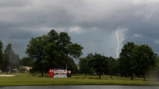WATCH: Lightning Strikes Golf Ball While Traveling 88MPH At Topgolf, Blackened Ball Later Found And Re-Teed