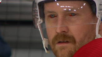 NHL Player Explaining How A Gruesome Finger Injury Led To Him Playing With Bloodshot Eyes Proves They're Built Differently
