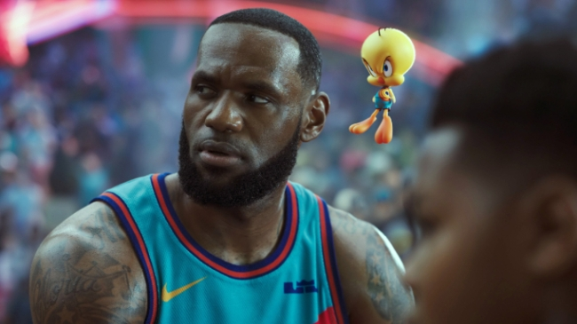Lebron acting in space jam