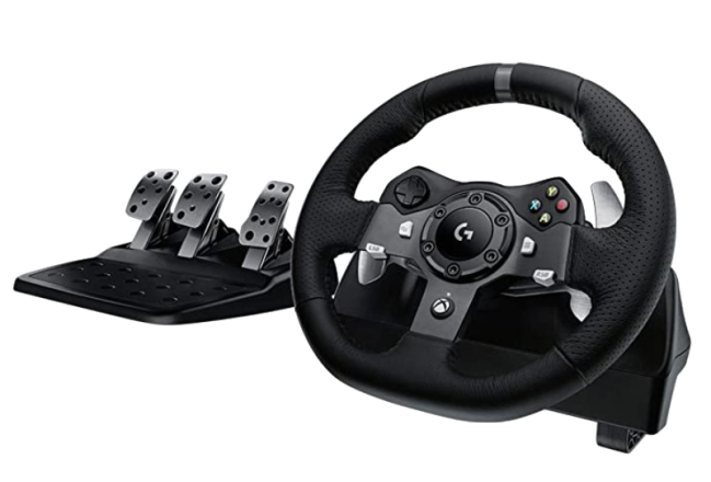 Logitech G920 Dual-Motor Feedback Racing Wheel with Pedals for Xbox One
