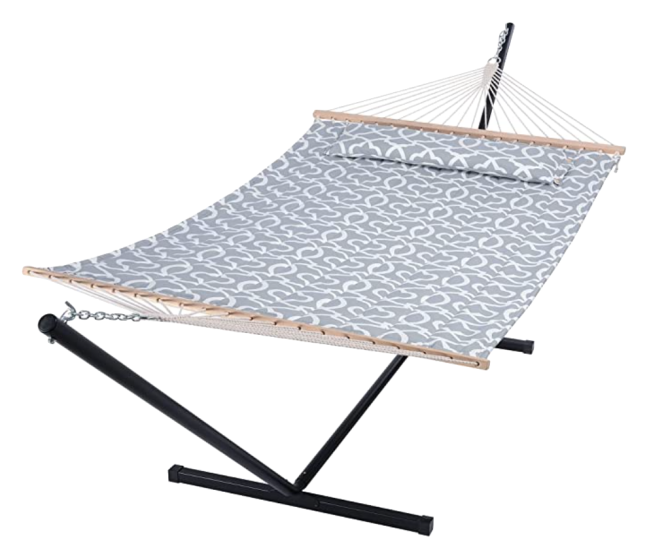 SUNCREAT Extra Large Double Hammock with Stand