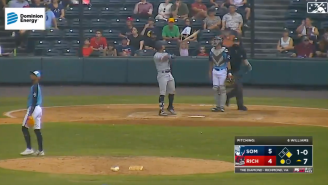 WATCH: Yankees Prospect Launches His Bat Into Orbit To Avenge Teammate's Hit By Pitch