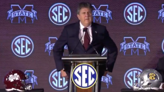 Mike Leach Couldn't Have Been More Entertaining At His SEC Media Days Debut, Gave Wild Answer To Playoff Question