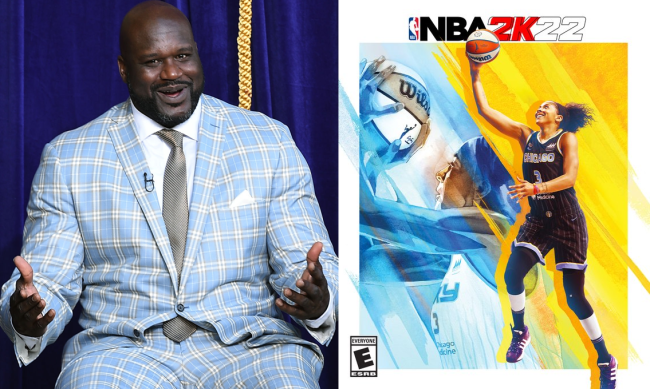 Shaq Reaction To Candace Parker First Woman On NBA 2K Cover