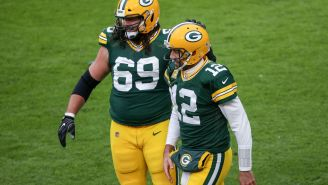 Check Out The Custom Golf Cart Packers Lineman David Bakhtiari Gifted Aaron Rodgers With A 'LUVN69' License Plate