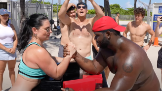 13-Time World Champ Female Arm Wrestler Snatching Dudes' Souls On South Beach Is The New Rosie The Riveter