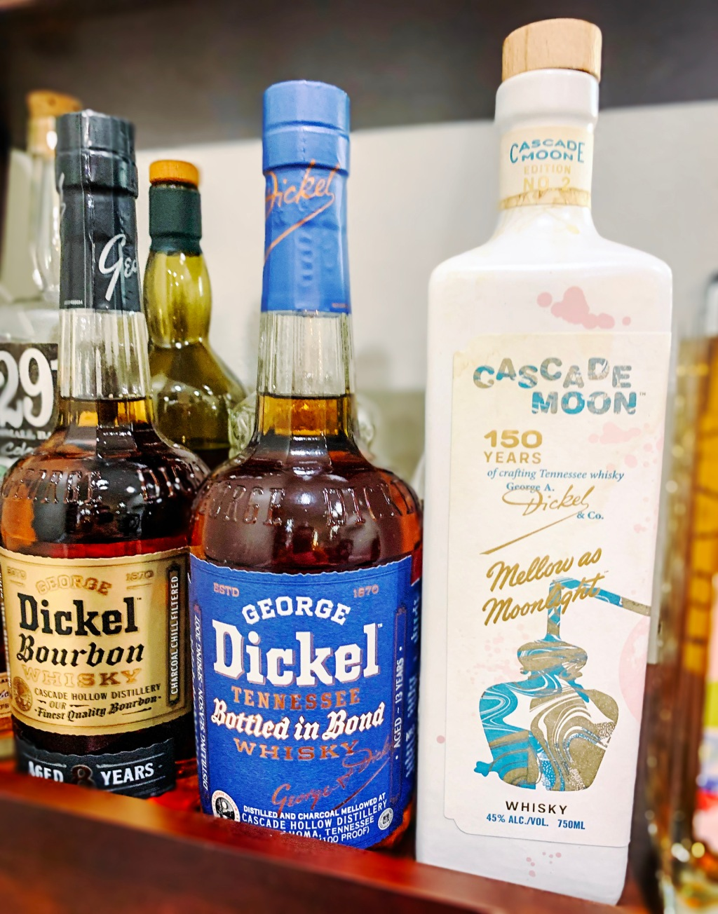 Best Bourbon George Dickel and Cascade Moon
