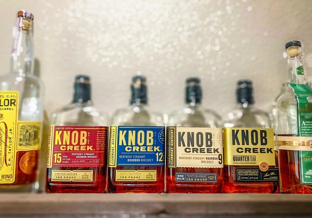 Best Bourbon Knob Creek Whiskey 15 year 12 year 9 year