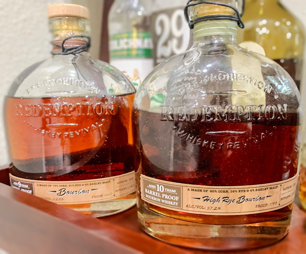 Best Bourbon and Rye Redemption Prohibition Whiskey