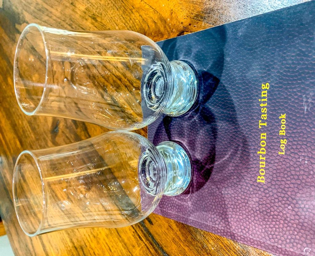 Best Bourbon right now tasting book and glencairn glass