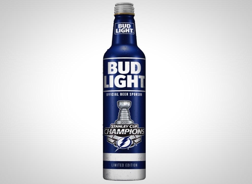 Bud Light Tampa Bay Lightning 2021 Stanley Cup Champion Bottles Nikita Kucherov