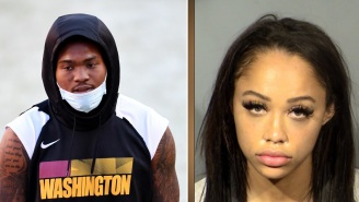 Dwayne Haskins And His Wife React On Social Media To Domestic Violence Reports Claiming She Punched Him In The Face And Broke His Tooth