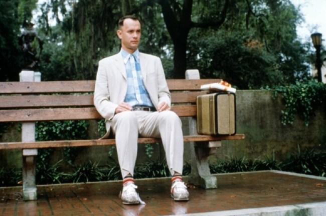 forrest gump sitting on bench