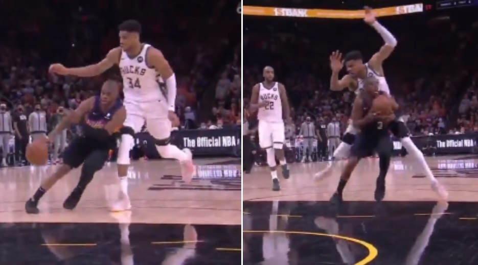 Chris Paul Accused Of Committing Dirty Play On Giannis Antetokounmpo During Game 1 Of The NBA Finals - BroBible